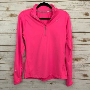 Nike Women's Neon Pink Running Dri-Fit Pullover